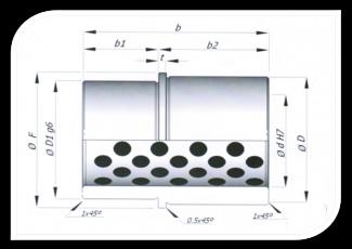 Bucha padrão com flange para porta molde - BASE CURTA